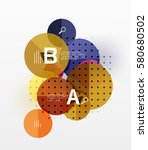 vector circle bubbles modern... | Shutterstock .eps vector #580680502