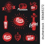beer brewery emblems labels and ... | Shutterstock .eps vector #580685272