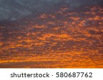 beautiful sunset | Shutterstock . vector #580687762