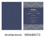wedding invitation with baroque ... | Shutterstock .eps vector #580688272