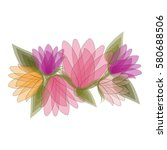 flowers icon stock image ... | Shutterstock .eps vector #580688506