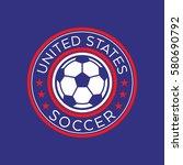 an american soccer crest in... | Shutterstock .eps vector #580690792