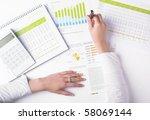 market analyze   pen and... | Shutterstock . vector #58069144