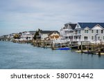 waterfront homes in avalon  new ... | Shutterstock . vector #580701442