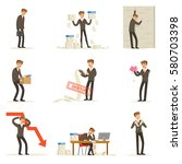 business fail and manager...   Shutterstock .eps vector #580703398