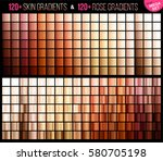 vector mega set of gradients ... | Shutterstock .eps vector #580705198