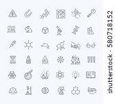 modern thin line icons set of... | Shutterstock .eps vector #580718152
