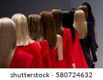 fashion show  catwalk runway... | Shutterstock . vector #580724632