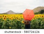 the tourist with his red... | Shutterstock . vector #580726126