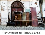 old furniture for sale | Shutterstock . vector #580731766