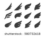 set of vector abstract wings.... | Shutterstock .eps vector #580732618