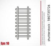 rail road icon | Shutterstock .eps vector #580735726
