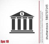 bank vector icon   Shutterstock .eps vector #580737145