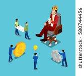 isometric business people.... | Shutterstock .eps vector #580744456