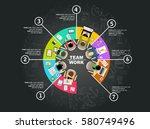 flat design illustration... | Shutterstock .eps vector #580749496