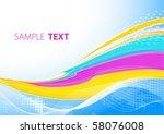 bright color card. vector