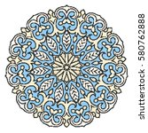 embroidery mandala isolated on... | Shutterstock . vector #580762888