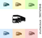 truck icon. lorry symbol | Shutterstock .eps vector #580769848