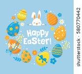 easter holiday banner design... | Shutterstock .eps vector #580770442