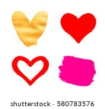 vector valentines day hand... | Shutterstock .eps vector #580783576