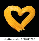 vector shining gold heart for... | Shutterstock .eps vector #580783702