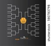 a blank college basketball... | Shutterstock .eps vector #580783798