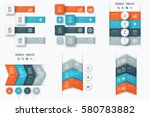 set with infographics. data and ... | Shutterstock .eps vector #580783882