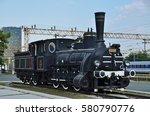 125 052 steam locomotive at... | Shutterstock . vector #580790776