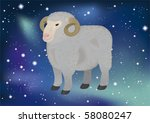 astrological zodiacal sign in... | Shutterstock .eps vector #58080247