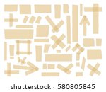 adhesive tapes. vector sticky... | Shutterstock .eps vector #580805845