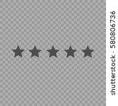 five star rating. vector... | Shutterstock .eps vector #580806736