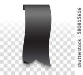 ribbon sticker. vector... | Shutterstock .eps vector #580815616