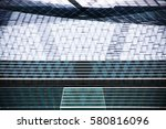 modern glass architecture.... | Shutterstock . vector #580816096