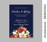 romantic wedding invitation... | Shutterstock .eps vector #580820362