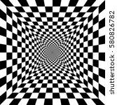 optical art geometric shape... | Shutterstock .eps vector #580826782