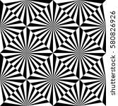 optical art geometric shape... | Shutterstock .eps vector #580826926