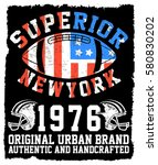 athletic dept. new york ... | Shutterstock .eps vector #580830202