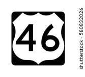 us route 46  filled with white | Shutterstock .eps vector #580832026