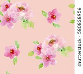 Watercolor Floral Background...