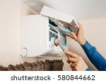air conditioning  a master...   Shutterstock . vector #580844662