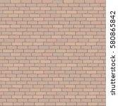 brown wall grunge brick... | Shutterstock .eps vector #580865842