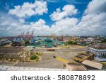colombo harbor in sri lanka | Shutterstock . vector #580878892