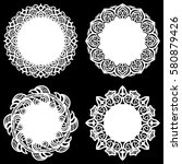 set of design elements  lace... | Shutterstock .eps vector #580879426