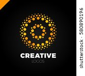 clever and creative  dots or... | Shutterstock .eps vector #580890196