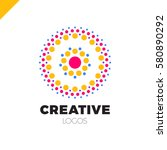 clever and creative  dots or... | Shutterstock .eps vector #580890292