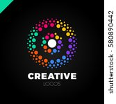 clever and creative  dots or... | Shutterstock .eps vector #580890442