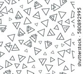 trendy geometric elements... | Shutterstock .eps vector #580892995
