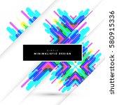 memphis geometric background... | Shutterstock .eps vector #580915336