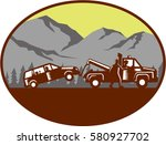 illustration of a car being... | Shutterstock .eps vector #580927702