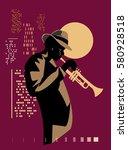 Jazz Trumpet Player On A Night...